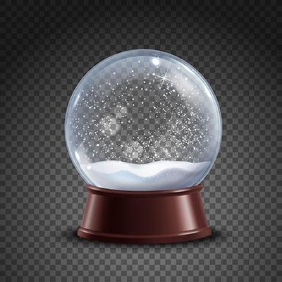 طرح وکتور کره توپ حباب برفي کريسمس جادويي شيشه کريستال